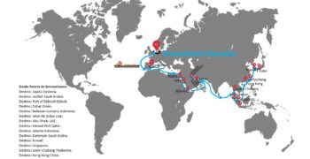 Servicio Roll on Roll off (RO-RO) desde Europa a Middle East & Asia