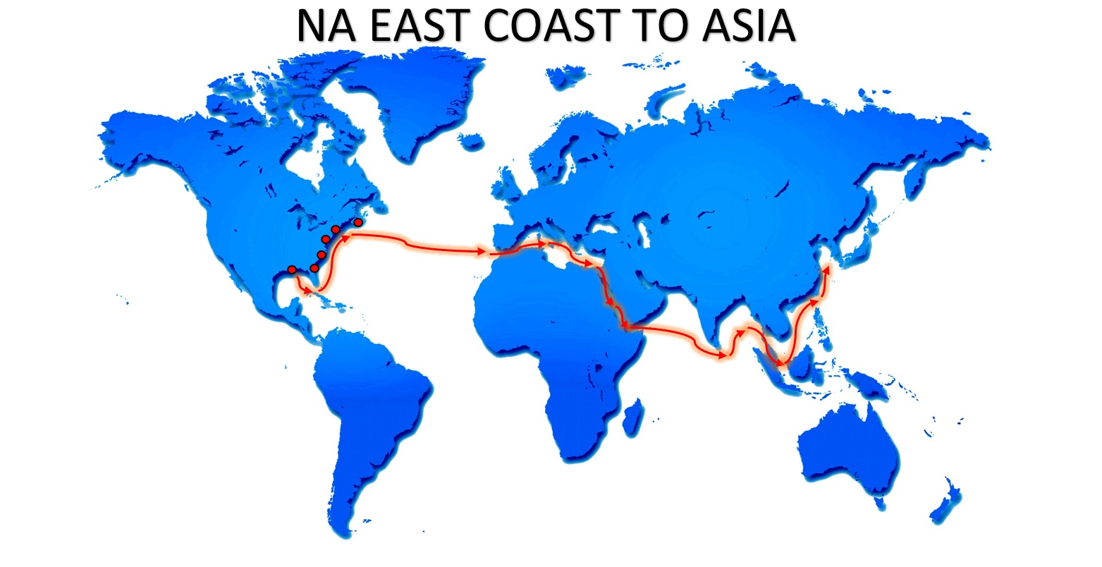 NA EAST COAST ASIA SERVICE BR EXPORT USA