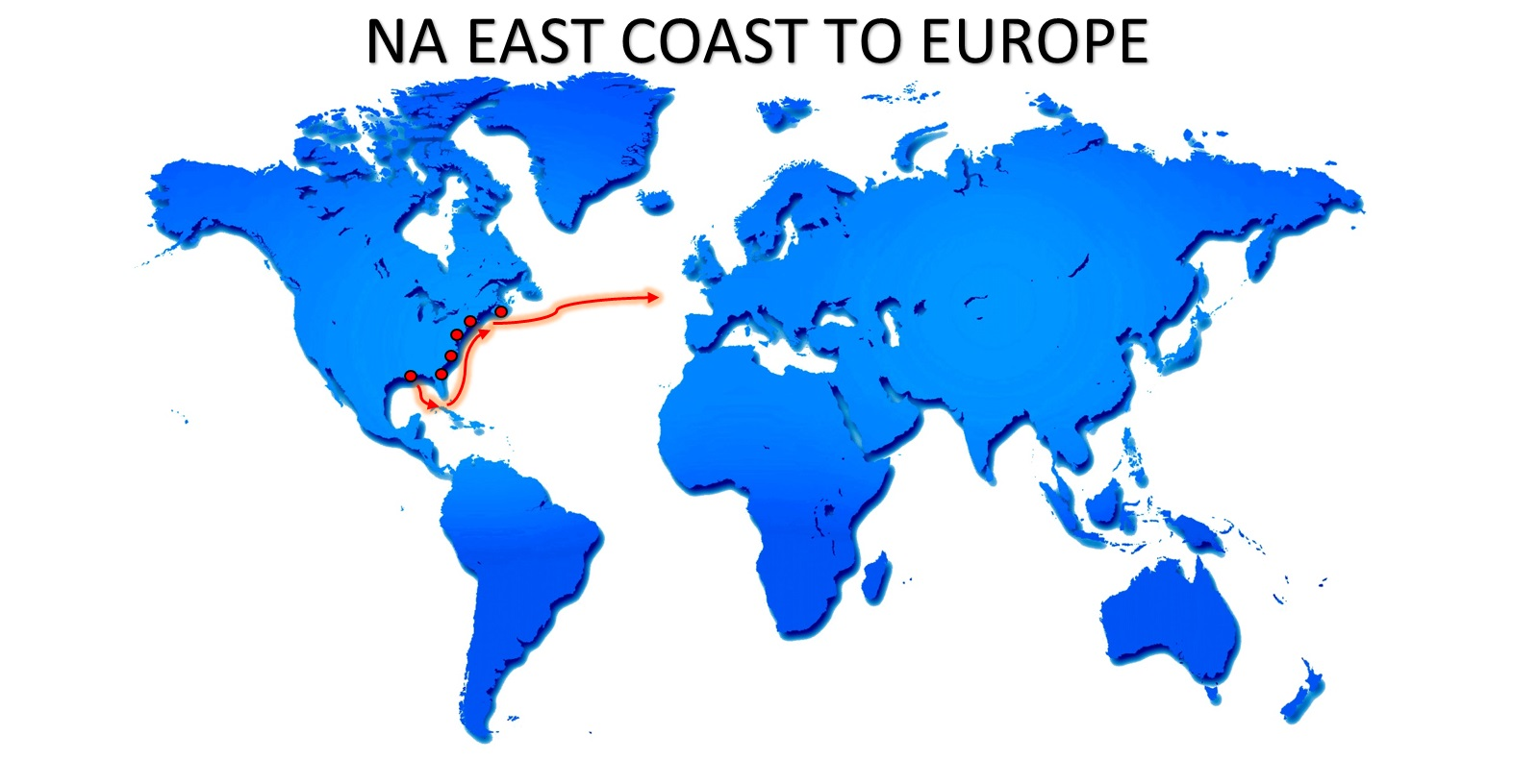 NA EAST COAST TO EUROPE SERVICE BR EXPORT USA