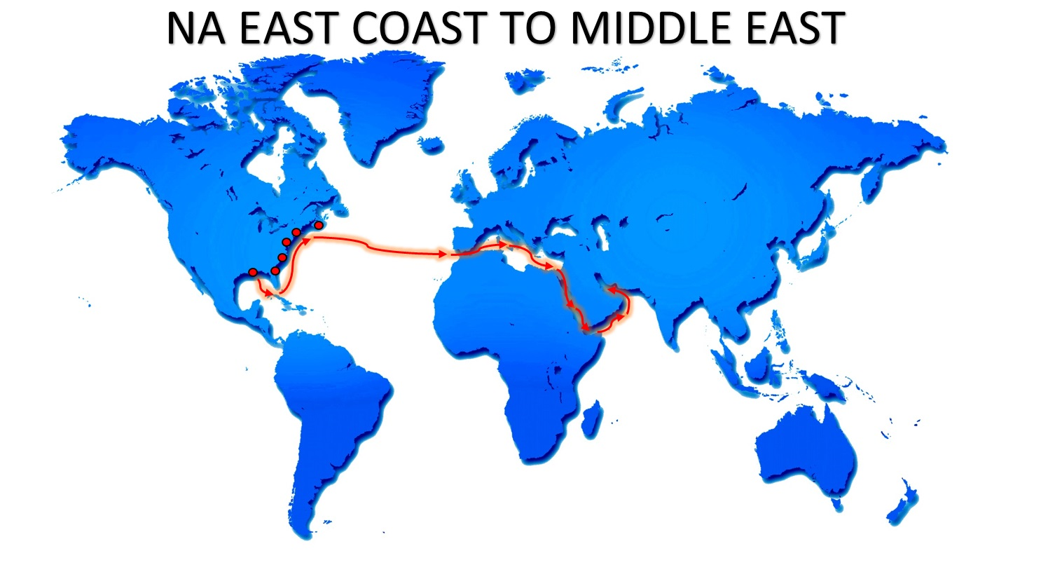 NA EAST COAST TO MIDDLE EAST SERVICE BR EXPORT USA