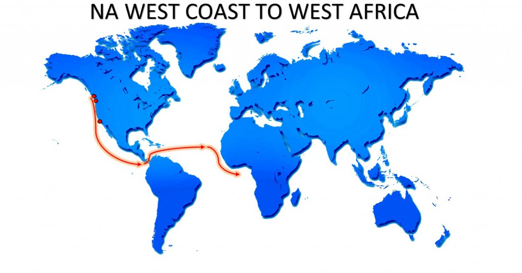 RO-RO NA WEST COAST TO WEST AFRICA MAP SERVICE